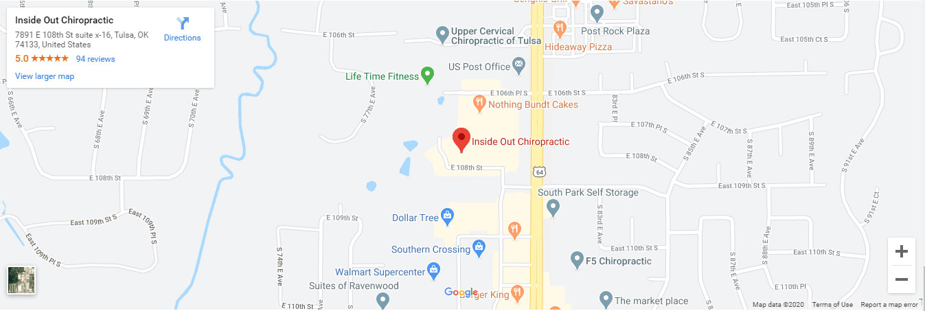 Get directions to Inside Out Chiropractic in Tulsa